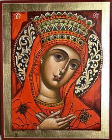 The Virgin III - icon by Vasilka Zlatanova