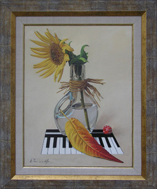 Sunflower with piano, picture by Alexander Titorenkov