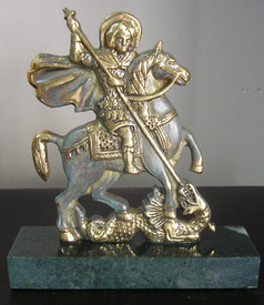 St George - bronze sculpture