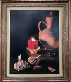 Still life with garlic - oil picture