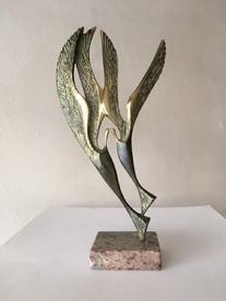 Birds in love - bronze