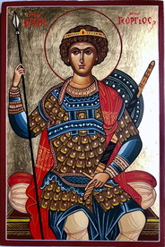 Saint George II - icon by Vasilka Zlatanova