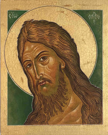 John the Baptist - an icon by Vasilka Zlatanova