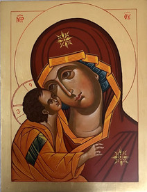 The Virgin I - icon by Vasilka Zlatanova