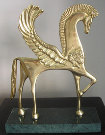 Pegasus - bronze sculpture
