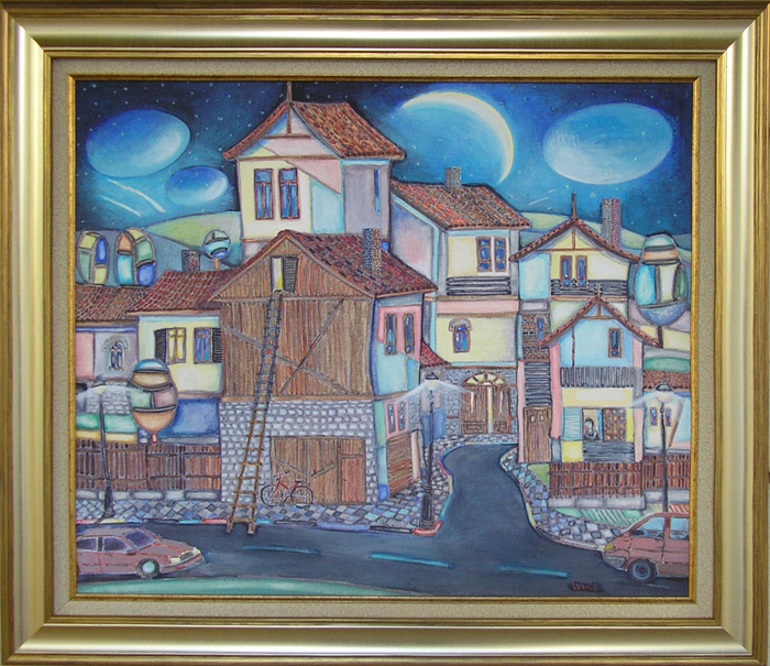 Outskirts - painting by Lucien Dimitrov - Liko